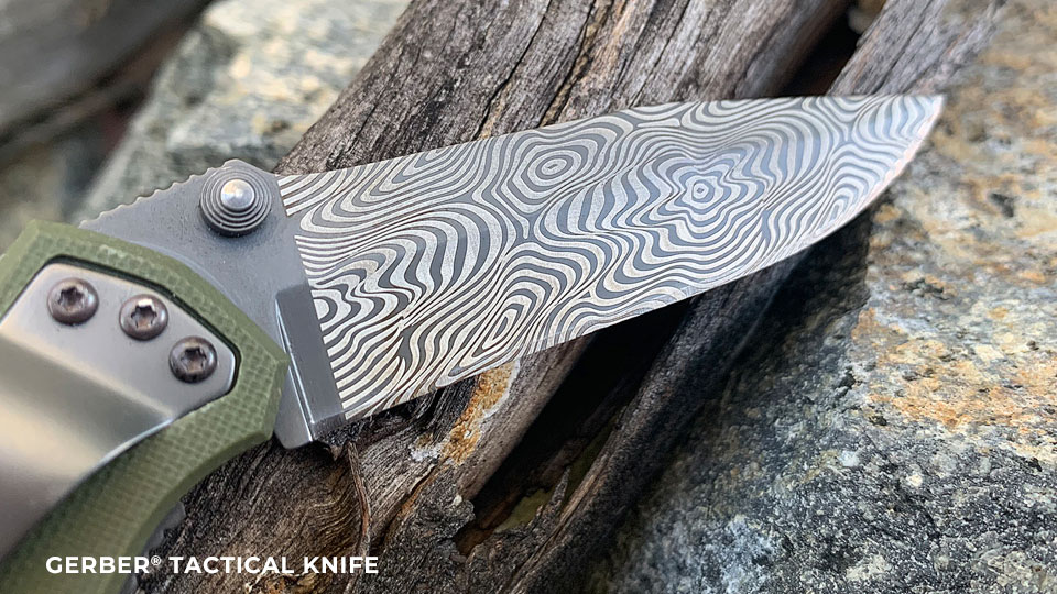 Gerber tactical knife precision engraving